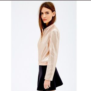 Forever 21 Exclusive Rose Gold Sequin ZipUp Jacket